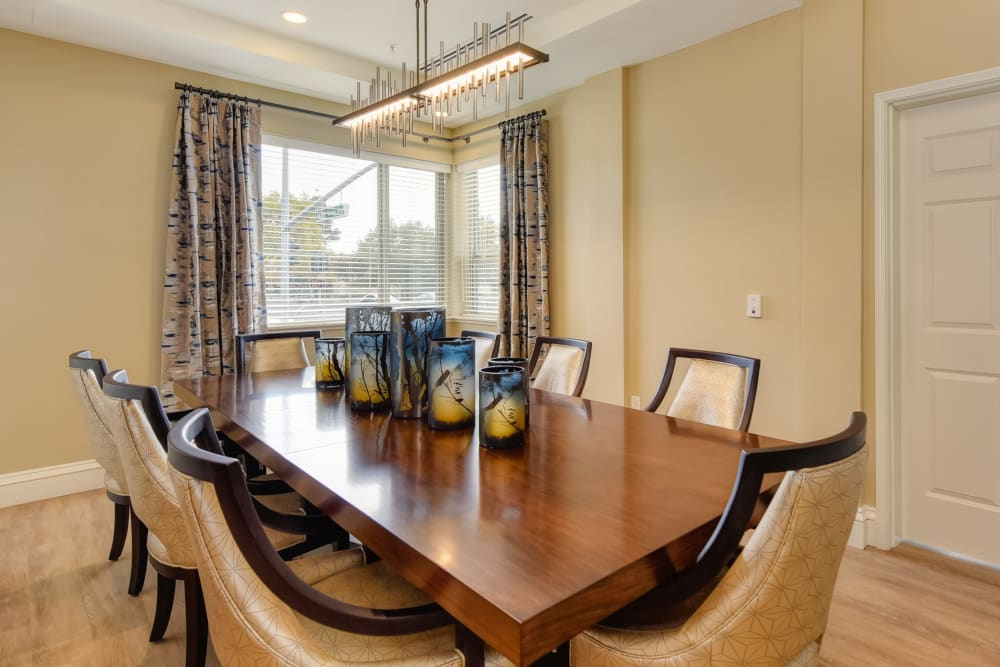 large private table with chairs