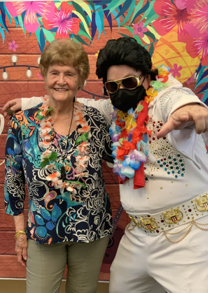 Willow Glen (CA) also had Elvis visit as he posed with residents and team members.