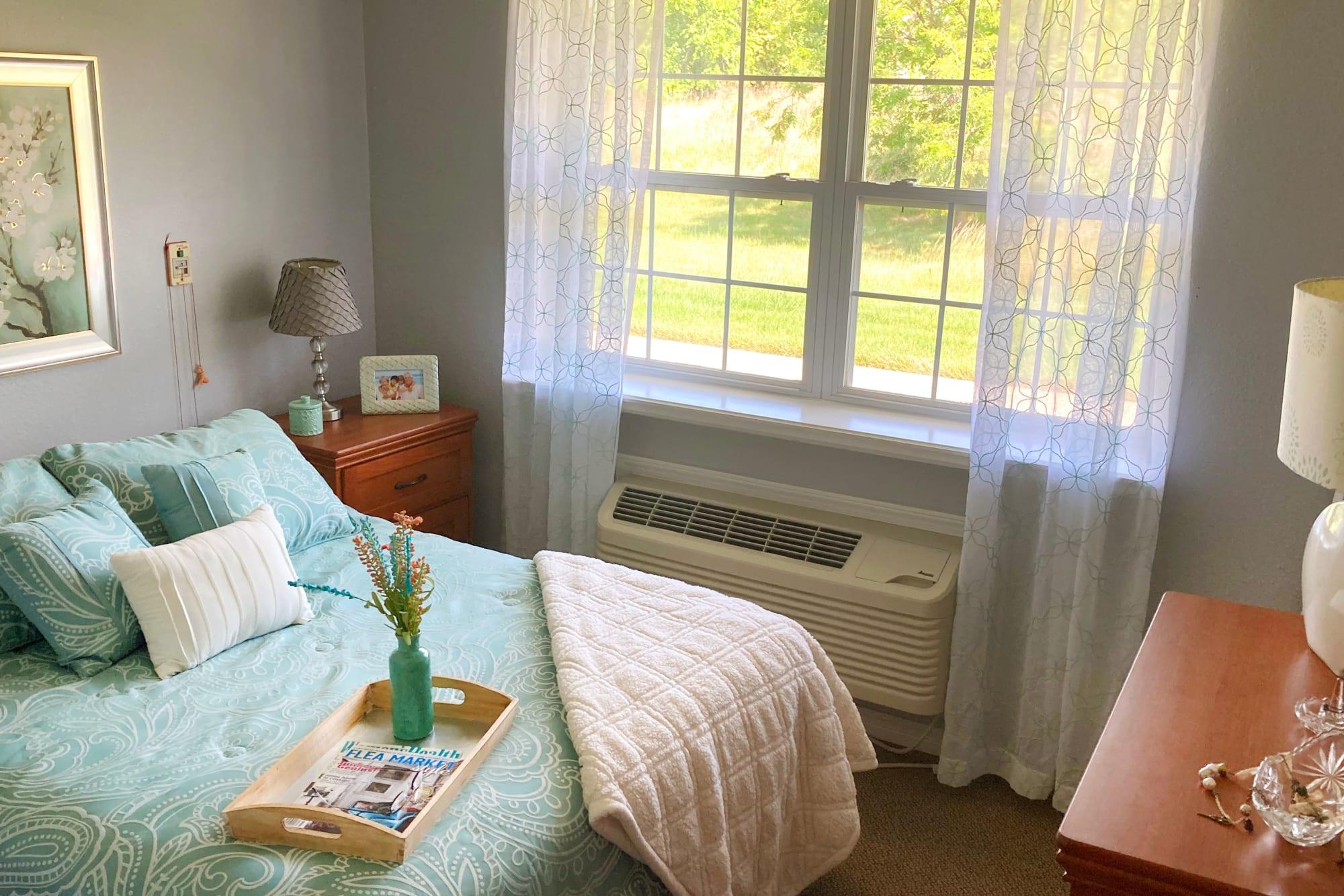 Bedroom at Homestead House in Beatrice, Nebraska