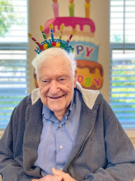 A surprise birthday party for James's 98th birthday!