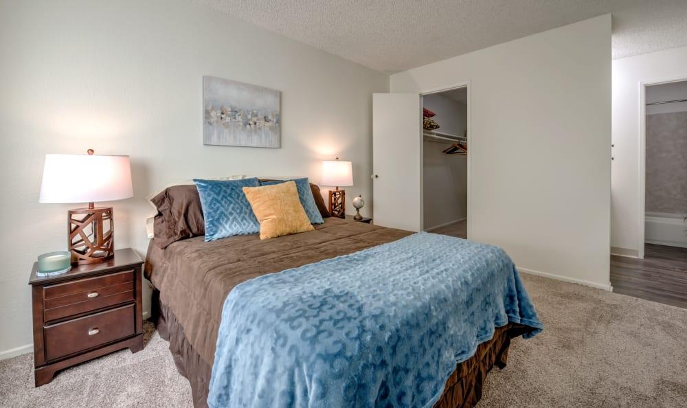The Windsor showcase a cozy bedroom in Sherman Oaks, California