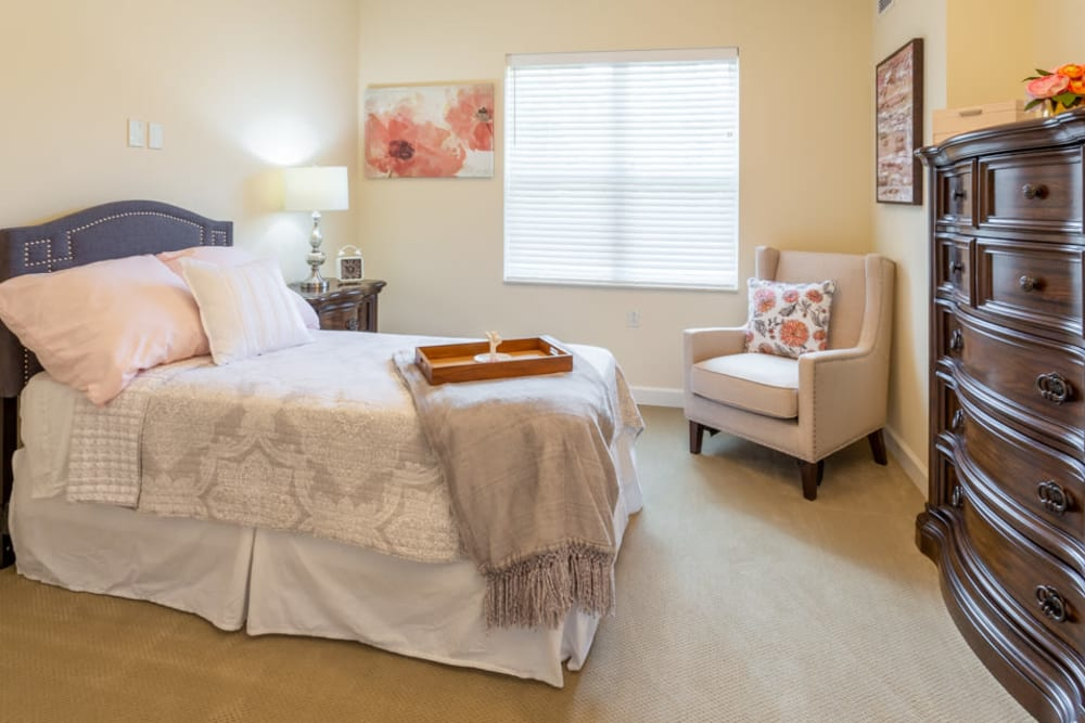 Bedroom at The Harmony Collection at Roanoke - Assisted Living in Roanoke, Virginia
