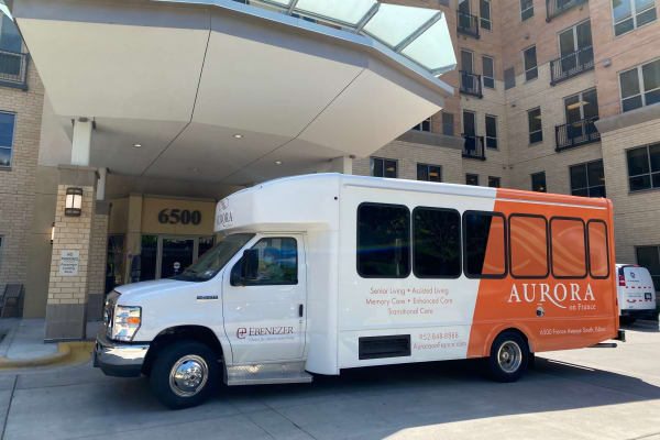 The activity bus at Aurora on France in Edina, Minnesota