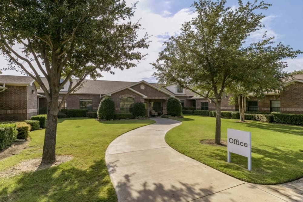 Winding path at RockBrook Memory Care in Lewisville, Texas