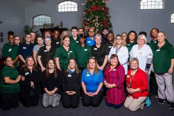 Senior living community staff members in Michigan City.