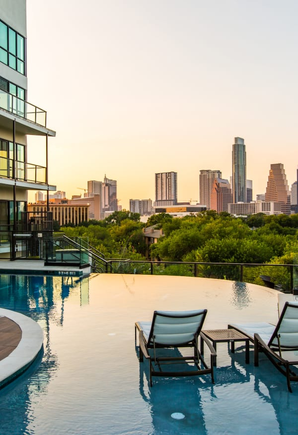 Pool with a view in Austin, Texas near Water Marq