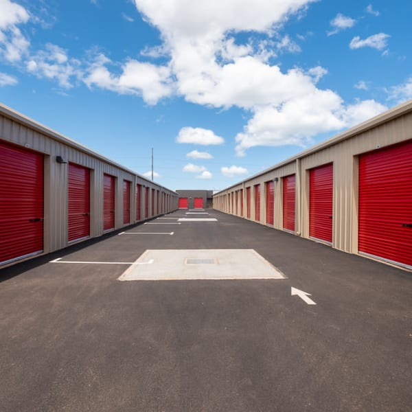 Outdoor storage units at StorQuest Self Storage in Walnut Creek, California