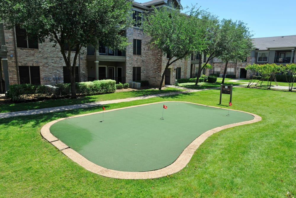 Mini golf court at The Springs of Indian Creek in Carrollton, Texas