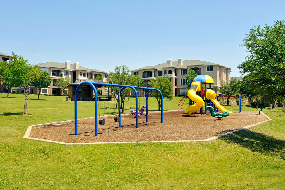 Beautiful playground at Ballantyne Apartments in Lewisville, Texas