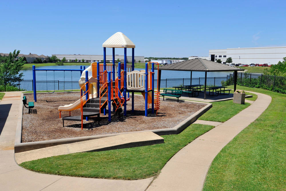 Playground at Crescent Cove at Lakepointe in Lewisville, Texas