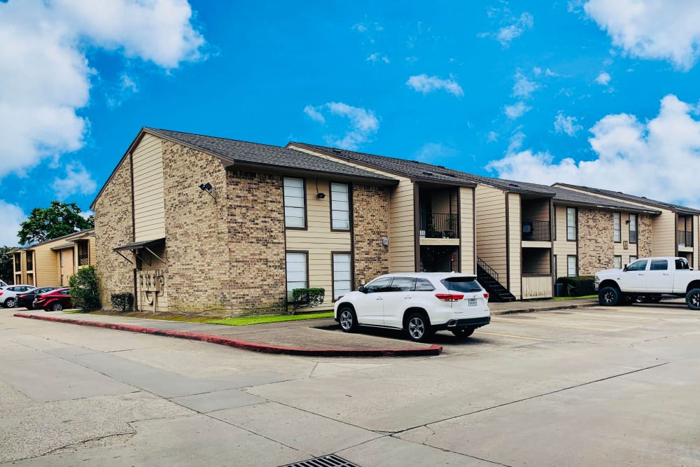 Parking at Carriage House Apartments in Nederland, Texas