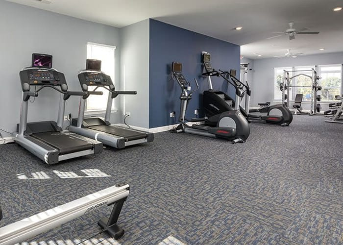 Well-equipped fitness center at The Residences of Westover Hills