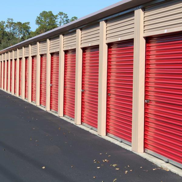Exterior units at StorQuest Self Storage in Gainesville, Florida