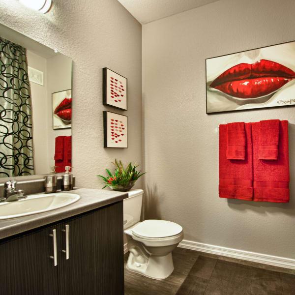 Beautiful modern bathroom at Avenue 25 Apartments in Phoenix, Arizona