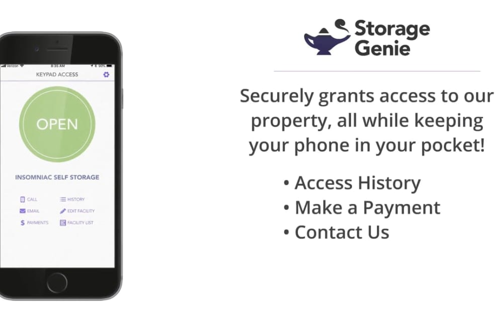 Storage Genie offered at Storage Authority Land O' Lakes in Land O' Lakes, Florida