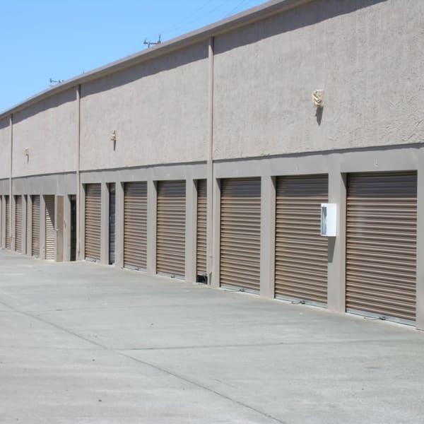 Exterior storage units at StorQuest Self Storage in Vallejo, California