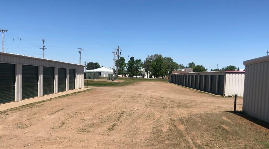 Exterior of outdoor units at KO Storage of Pierz in Pierz, Minnesota