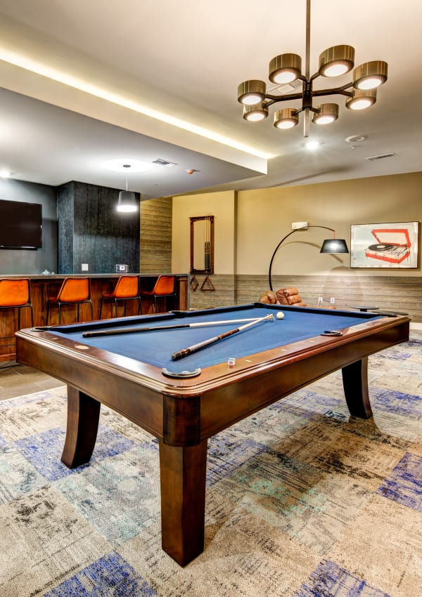 Billiards table at Water Marq in Austin, Texas