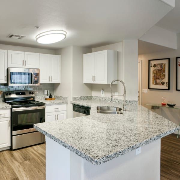 Modern kitchen at Waterside at Ocotillo in Chandler, Arizona