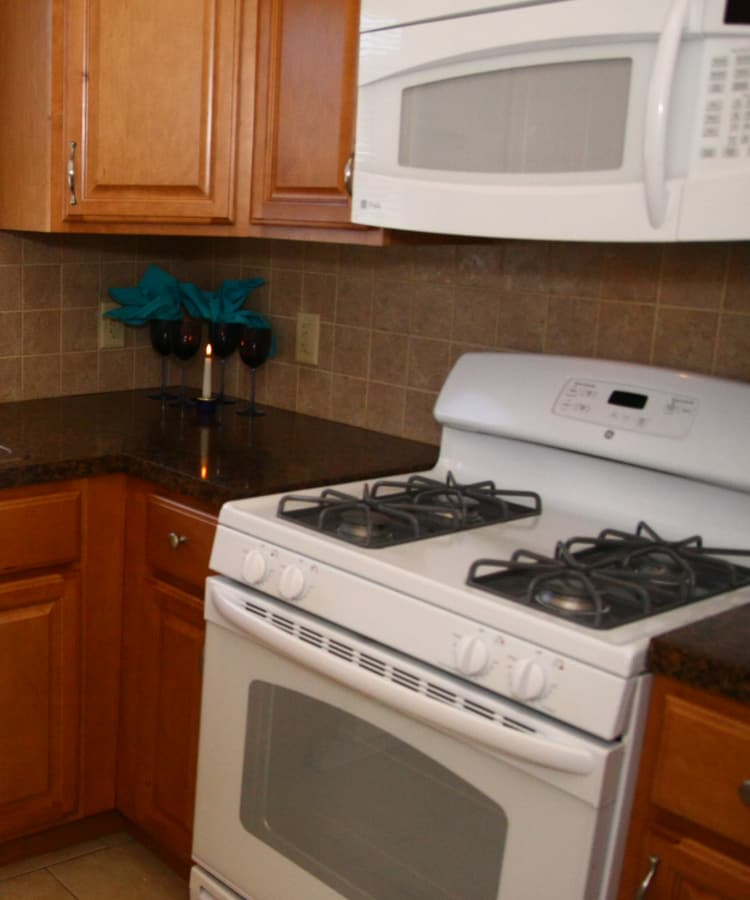 Gas oven at Waterway Court Apartments