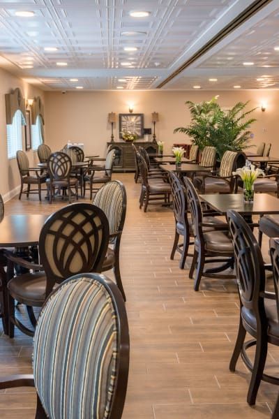 Dining room at Alura By Inspired Living in Rockledge, Florida