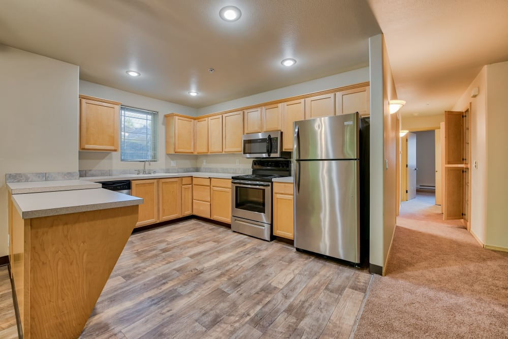 Large Kitchen at Aravia Apartments in Tacoma, Washington