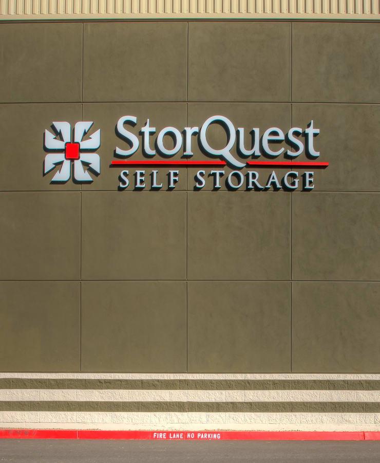 Exterior of StorQuest Self Storage in Sacramento, California