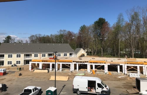 Apartment construction at Enclave 50 in Ballston Spa, New York