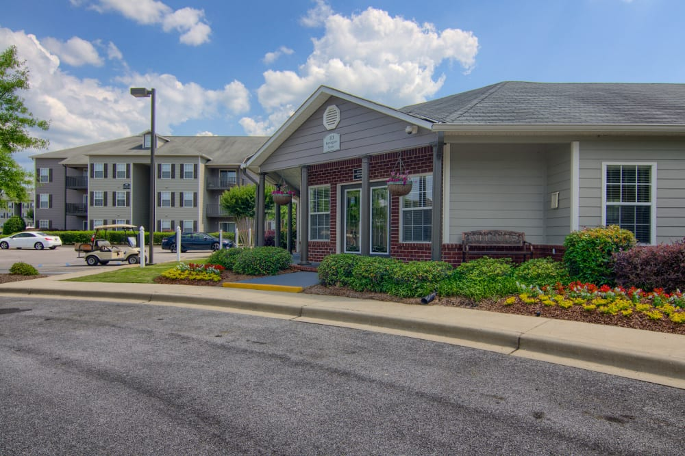 Leasing office at Lancaster Place in Calera, Alabama