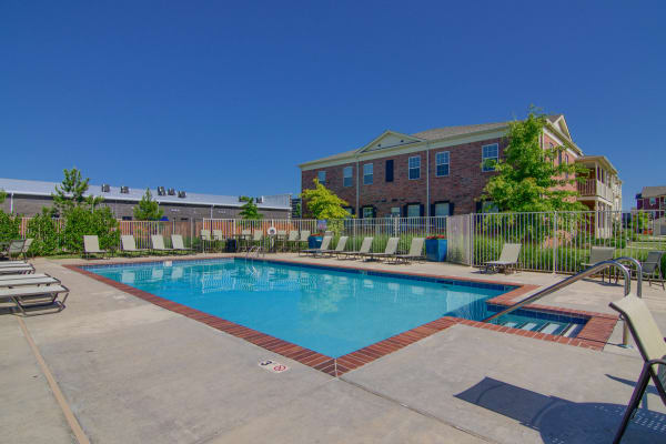 Resident only pool at Traditions at Westmoore in Oklahoma City, Oklahoma