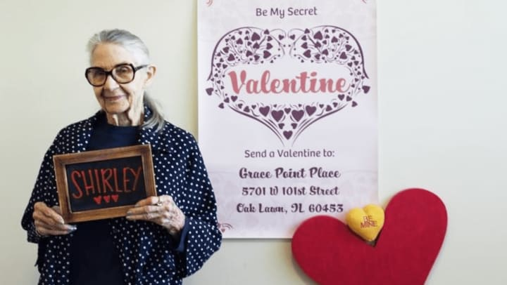 Our residents are getting great joy sending and receiving surprise Valentine