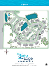 Site map of Waters Edge Apartments in Lansing, Michigan