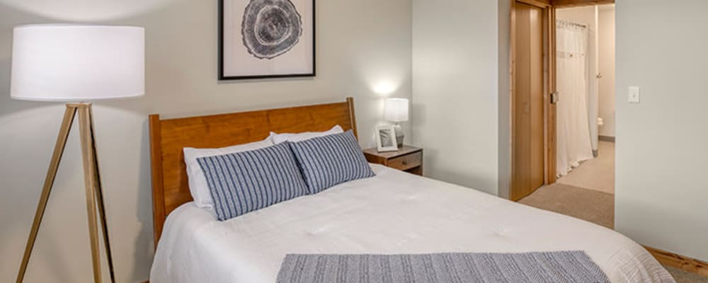 Serene bedroom at The Springs at Sherwood in Sherwood, Oregon