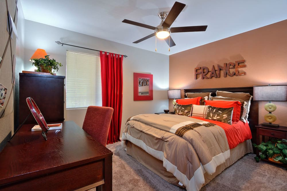 Bedroom at Cielo Apartment Homes in Henderson, Nevada