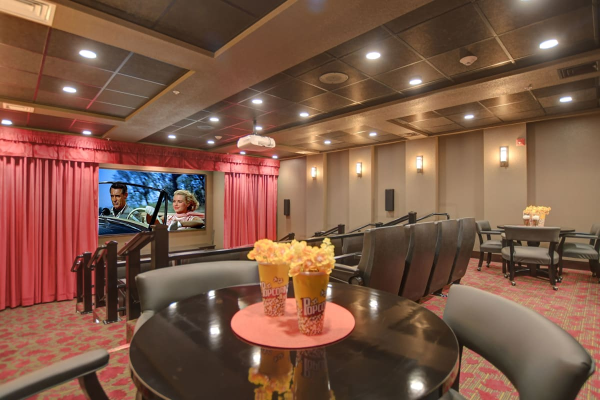 Theater at Kennedy Meadows Gracious Retirement Living in North Billerica, Massachusetts