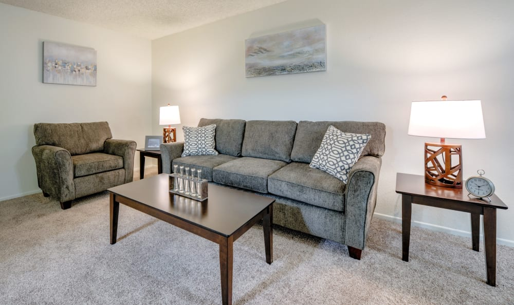 Spacious living room at The Windsor in Sherman Oaks, California