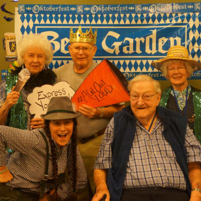 Residents dressed up for a fun event at Ebenezer Ridges Campus in Burnsville, Minnesota