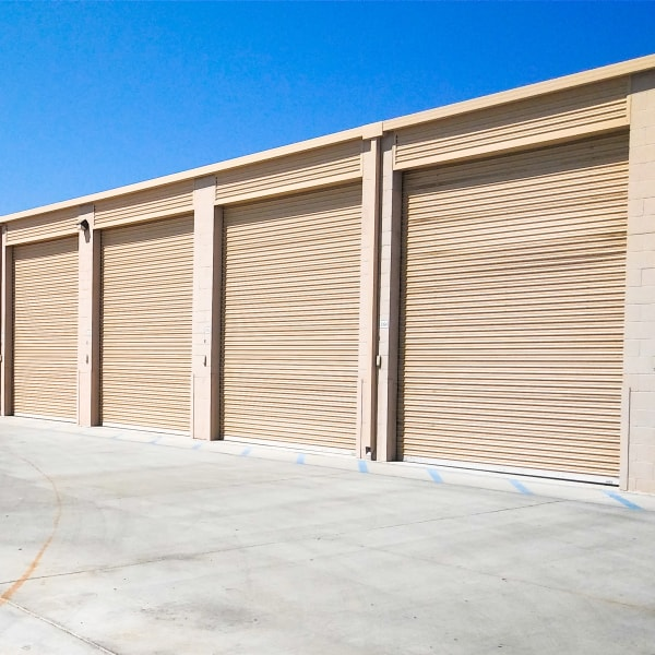 Exterior storage units at StorQuest RV/Boat and Self Storage in Indio, California