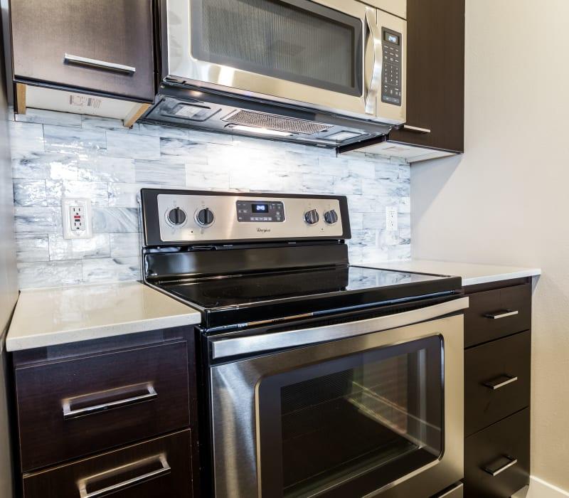 Kitchen stove at Marq 211 in Seattle, Washington
