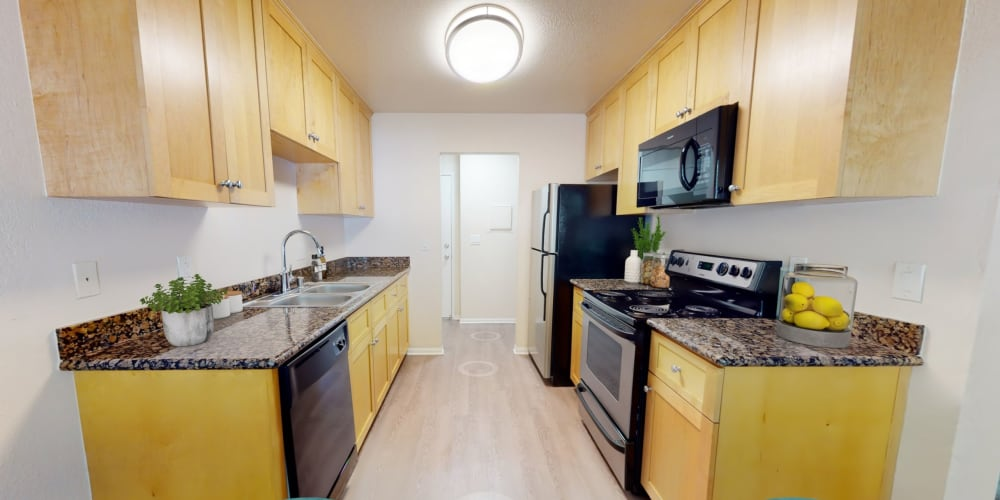 View a virtual tour of a 1 bedroom apartment home at Pleasanton Place Apartment Homes in Pleasanton, California