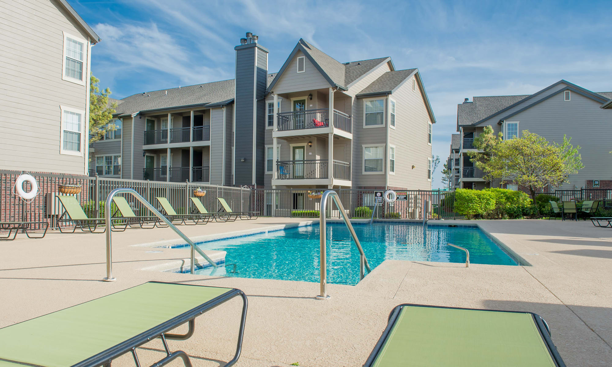 Resort style pool at Crown Pointe Apartments in Oklahoma City, Oklahoma