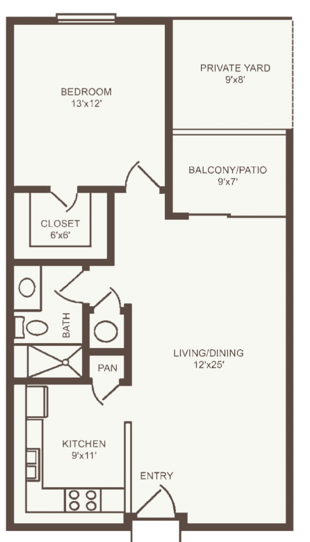 Independent Living one bedroom II at The Country Club of La Cholla in Tucson, Arizona