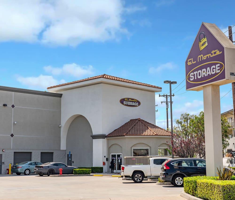 Branding and signage in front of El Monte Storage in El Monte, California
