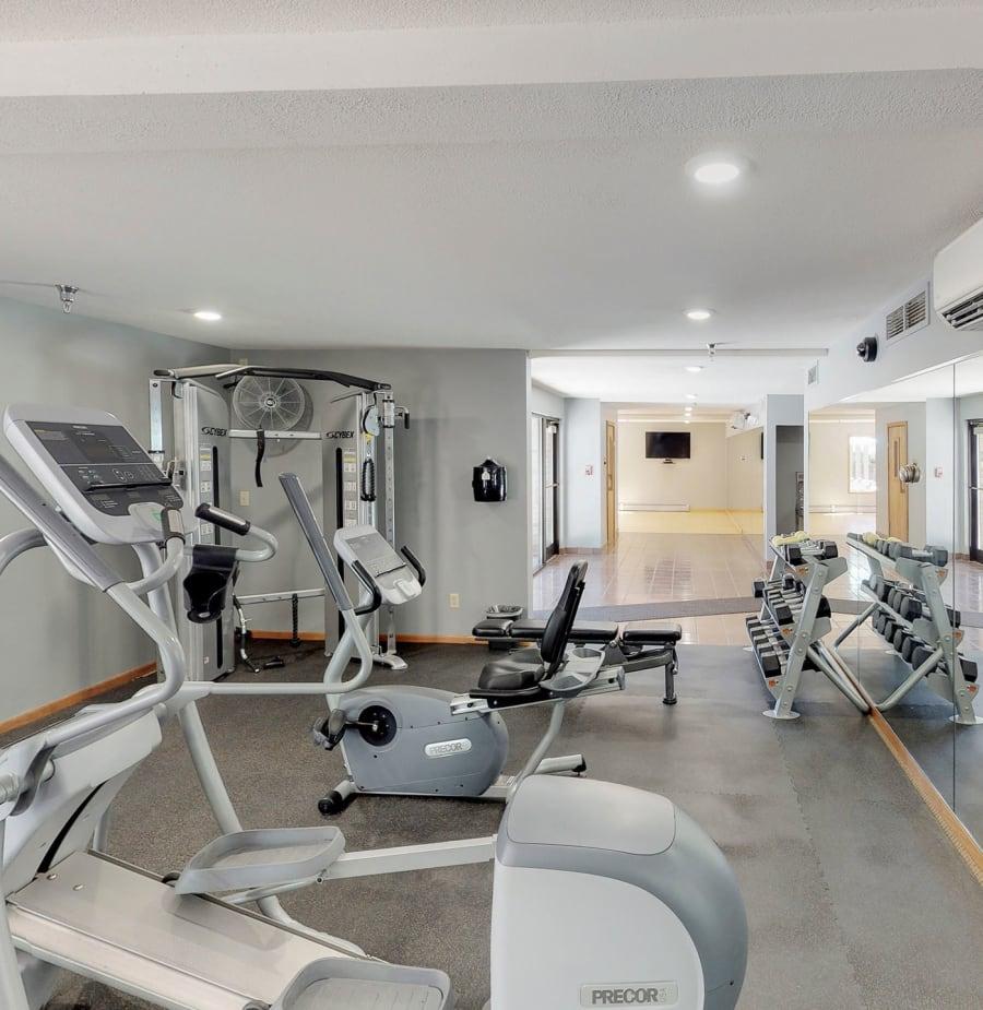Modern fitness center at Vernon Oaks in Edina, Minnesota
