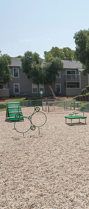 Onsite dog park for your furbaby at Sandpiper Village Apartment Homes in Vacaville, California