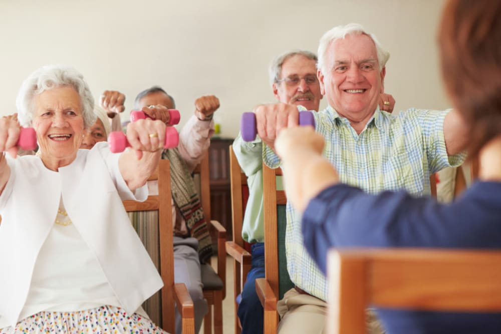 health and fitness at Forest Creek Memory Care in Overland Park, Kansas