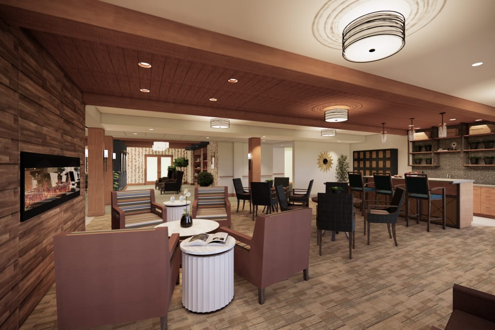 Lounge at Broadwell Senior Living in Kearney, Nebraska