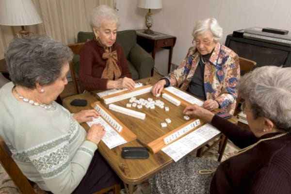 Game night at Ramsey Village Continuing Care in Des Moines, Iowa