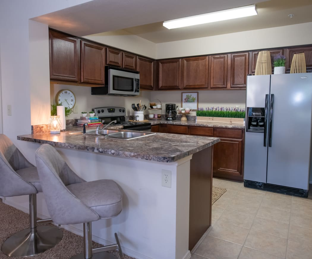 Beautiful kitchen at Coffee Creek Apartments in Owasso, Oklahoma