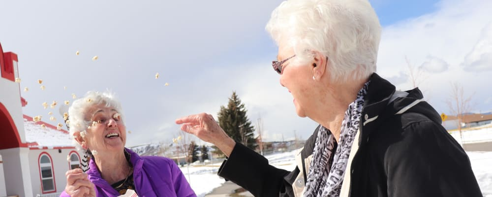 Resident exercising with caregiver at The Springs at Butte in Butte, Montana